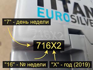 Как узнать дату выпуска аккумулятора Titan