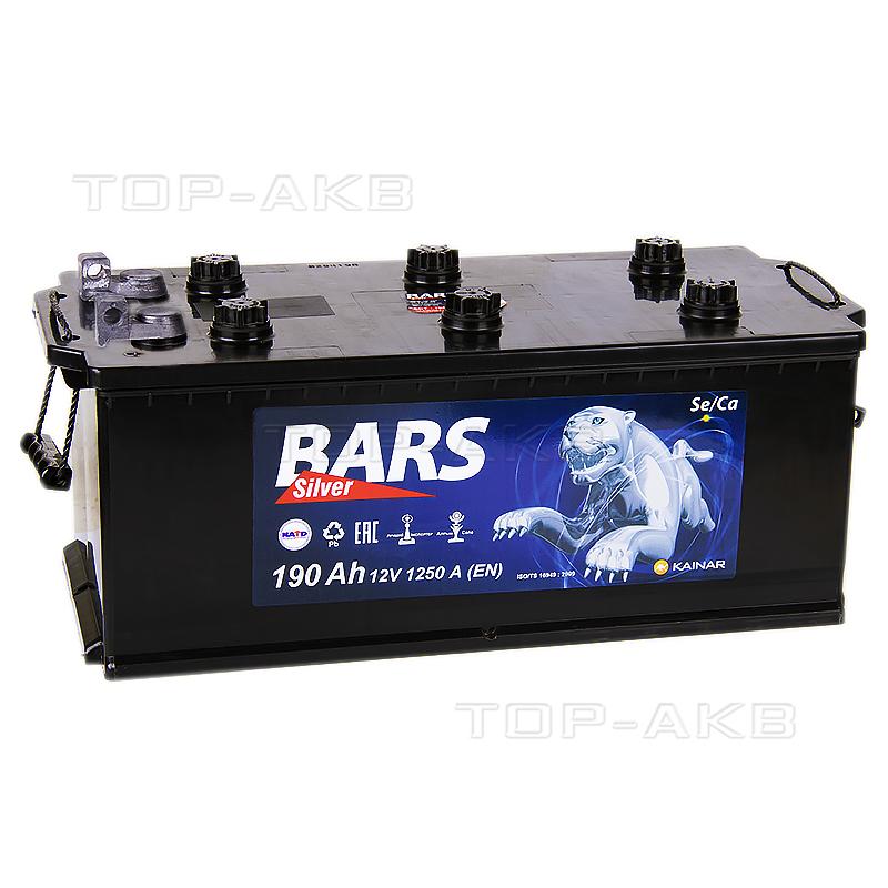Купить Автомобильный аккумулятор Bars 190 болт 1250A 524x239x240 с доставкой по Москве
