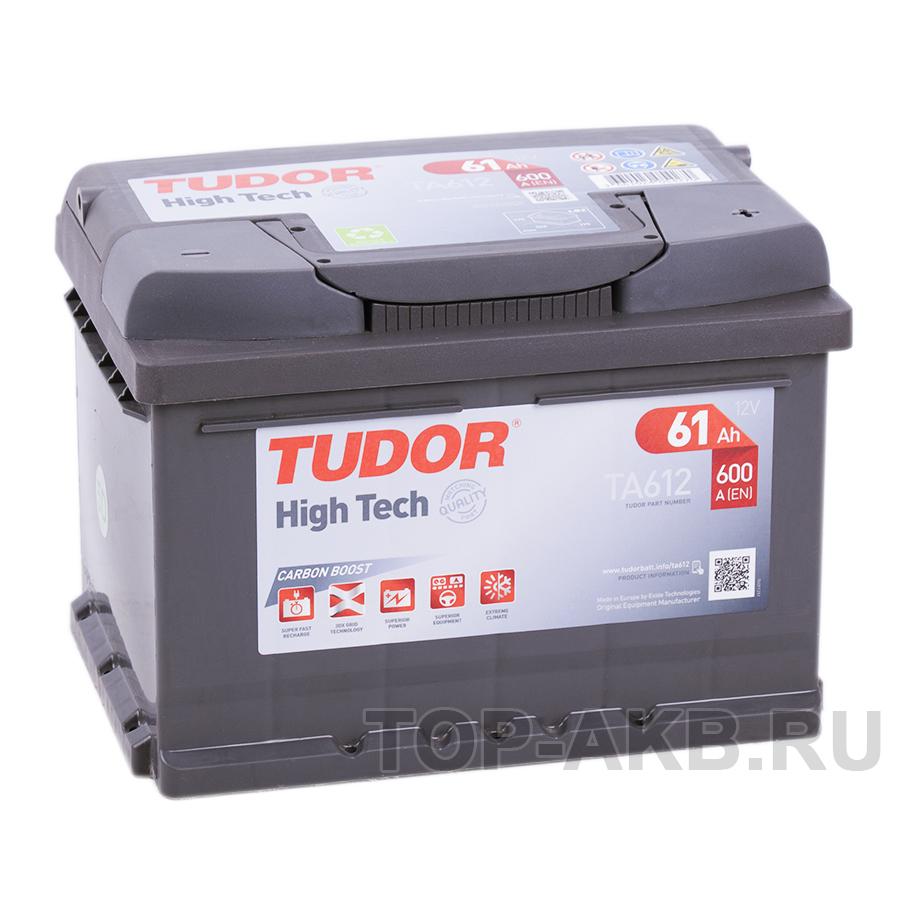 Купить Автомобильный аккумулятор Tudor High-Tech 61R (600A 242x175x175) TA612 с доставкой по Москве