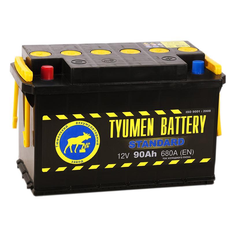 Автомобильный аккумулятор Tyumen Battery Standard 90 Ач прям. пол. 680A (345x175x213)