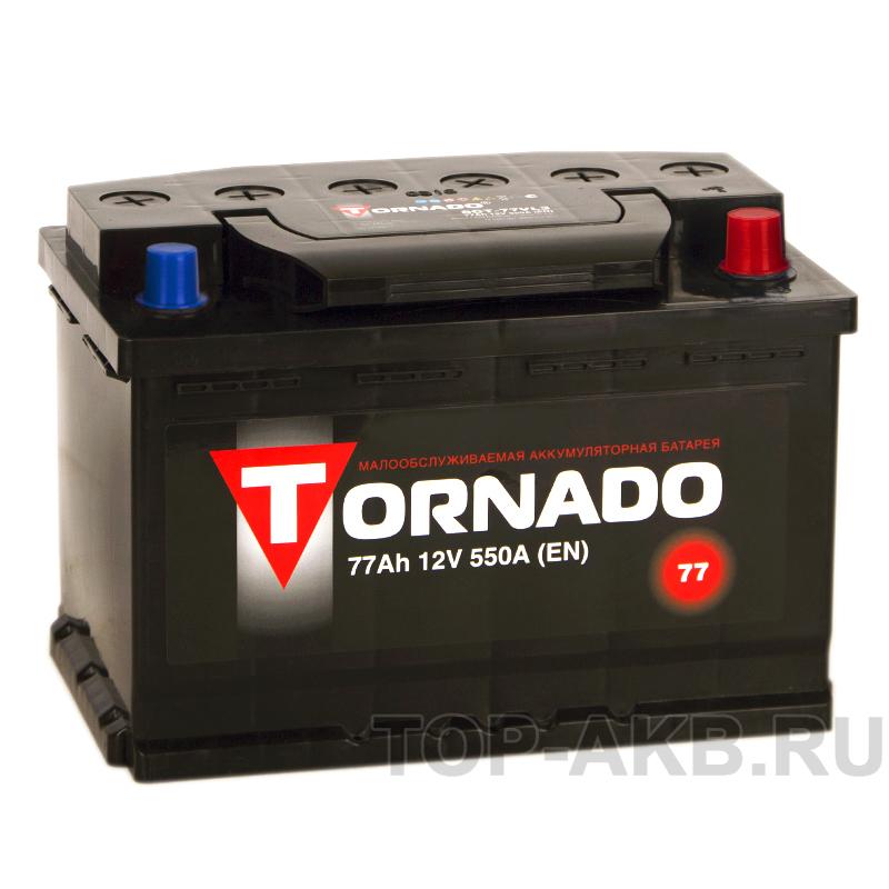 Купить Автомобильный аккумулятор Tornado 77R 550A 278x175x190 с доставкой по Москве