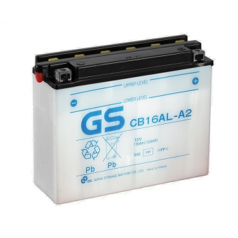 GS CB16AL-A2 12V 16Ah 200A (207x72x164) обр. пол. Heavy Duty сухозаряж. GS YUASA