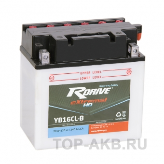RDrive eXtremal HD YB16CL-B 20 ач обр. 240А (175x100x175) Heavy Duty сухозаряж.