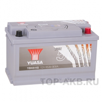 YUASA YBX5000 85R (800А 315x175x190) Silver High Performanse YBX5115