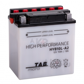 TAB Moto High performance HYB10L-A2 12V 11Ah 160A (134х89х145) обр. пол. сухоз.