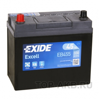 Exide Excell 45L (330A 238x129x227) EB455