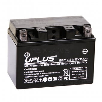 Uplus EBZ12-4-1 12V 11Ah 210А прям.пол. (150x88x110) Super Start High Performance AGM