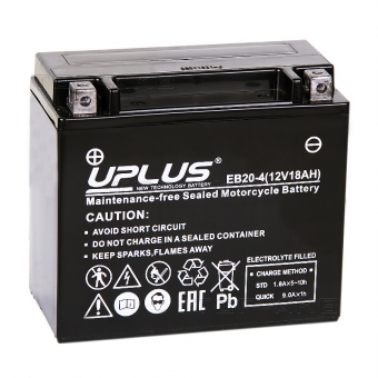 Uplus EB20-4 12V 18Ah 270А прям.пол. (175x87x155) Super Start AGM YTX20-BS