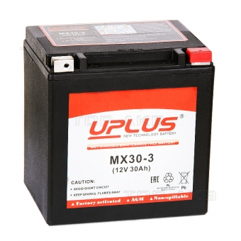 Uplus Power Sport 30 Ач 440А обр. пол. GYZ32HL/YB30L-B/YIX30L (166x131x175) MX30-3