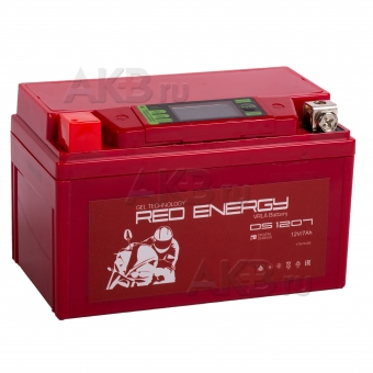 Red Energy DS 1207, 12V 7Ah 110А, (150x86x94) YTX7A-BS
