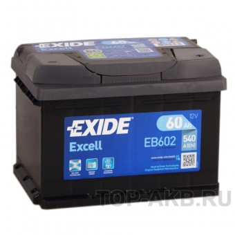 Exide Excell 60R (540A 242x175x175) EB602
