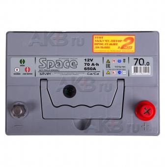 Автомобильный аккумулятор Space Asia 85D26L (70R 650A 261x173x225). Фото 2