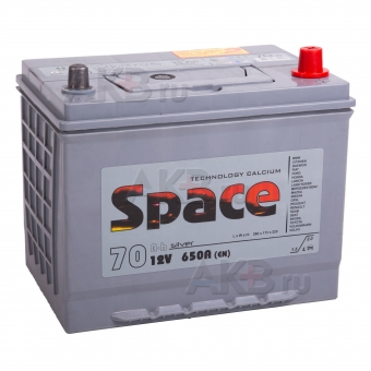 Автомобильный аккумулятор Space Asia 85D26L (70R 650A 261x173x225)