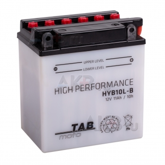 TAB Moto High performance HYB10L-B (186515) 12V 11Ah 140A (134x90x145) обр. пол. сухоз.