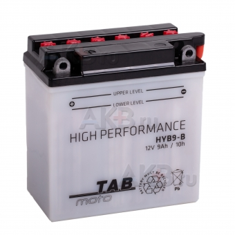 TAB Moto High performance HYB9-B (183515) 12V 9Ah 90A (135х75х139) прям. пол. сухоз.