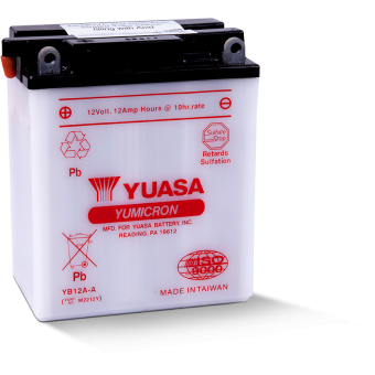 Yuasa YB12A-A 12V 12Ah 150A (134x80x160) прям. пол. Heavy Duty сухозаряж.